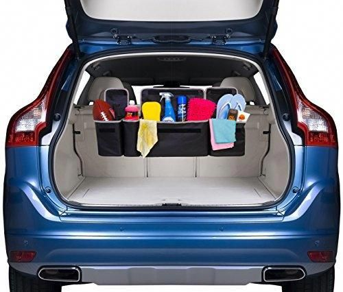 Trunk And Backseat Organizer Suv Trunk Organization Trunk Organization Car Trunk Organization