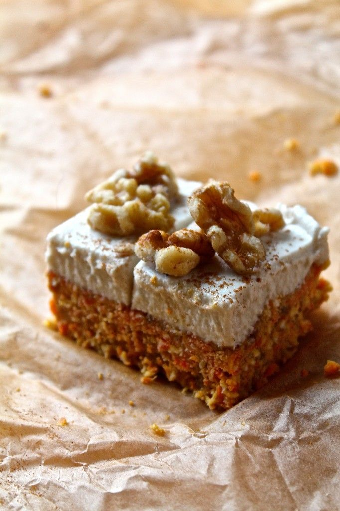 Enjoy a healthy dessert with these Raw Carrot Cake Bites. Gluten-free, refined sugar-free, and vegan for a dessert everyone can enjoy!