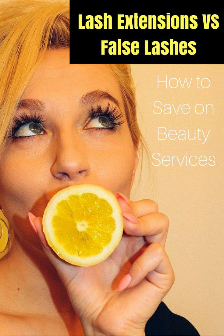 Eyelash extensions vs false lashes   save on beauty   false lashes   falsies   lash extensions