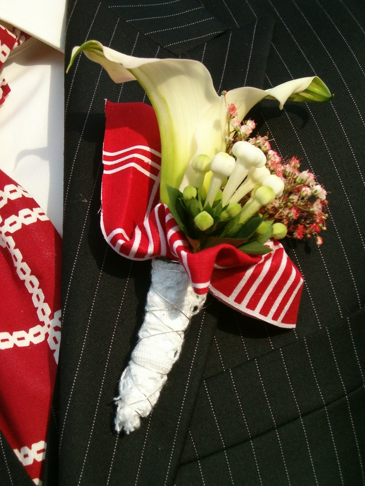 Spakenburgse bruidegomcorsage