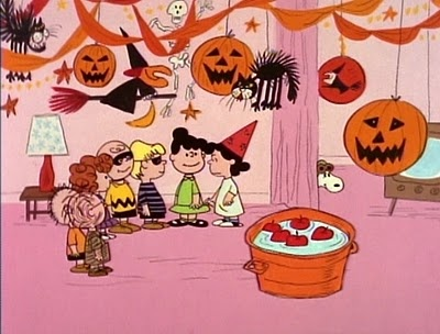 "Halloween party from ""It's the Great Pumpkin, Charlie Brown"" (1966)."