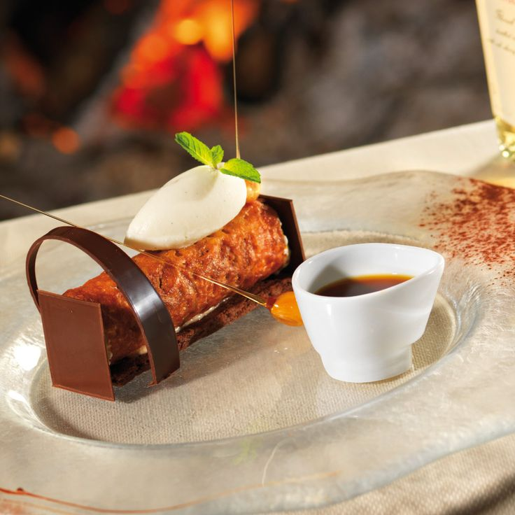 a gastronomie recettes desserts tube marron vanille crumble de chocolat noir sorbet au. Black Bedroom Furniture Sets. Home Design Ideas
