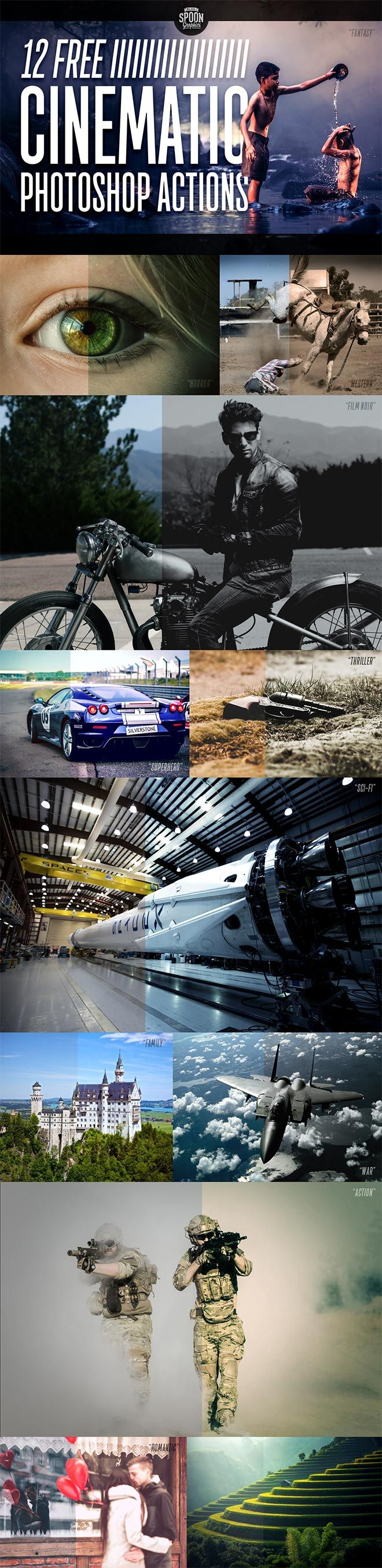 12 Free Cinematic Photo Effect Actions for Adobe Photoshop   Blog.SpoonGraphics by Chris Spooner