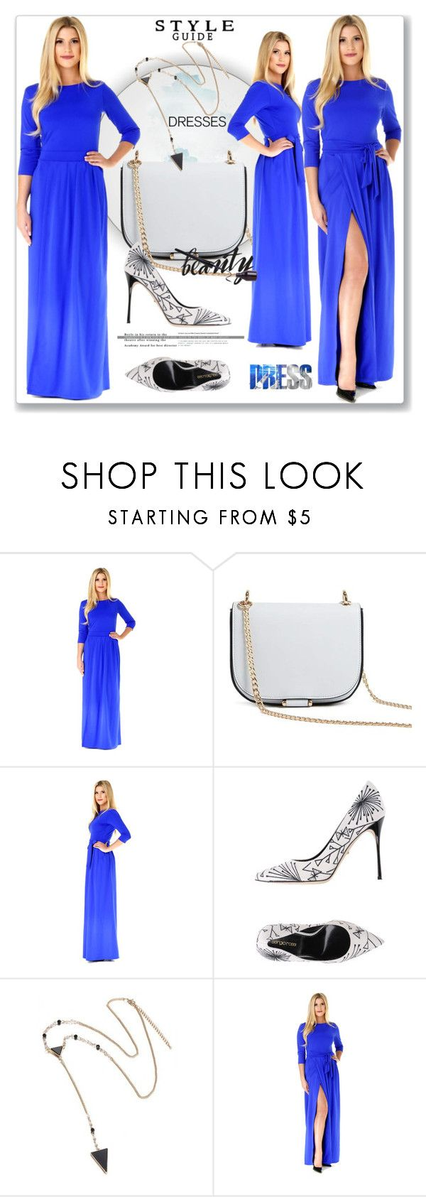 """""""Blue Party Maxi Dress"""" by lip-balm ❤ liked on Polyvore featuring Forever 21, Sergio Rossi and plus size dresses"""