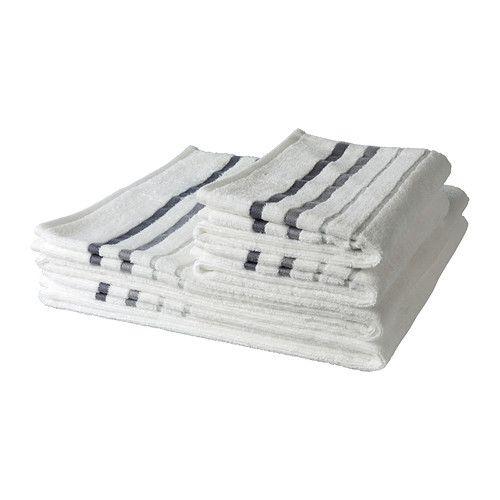 RANSBY Set di 4 asciugamani IKEA Asciugamano di medio spessore, morbido e molto assorbente (peso di 450 g/m²).