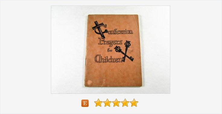 Confession #Prayers for #Children #Mini Paperback Booklet #book #vintage #etsy