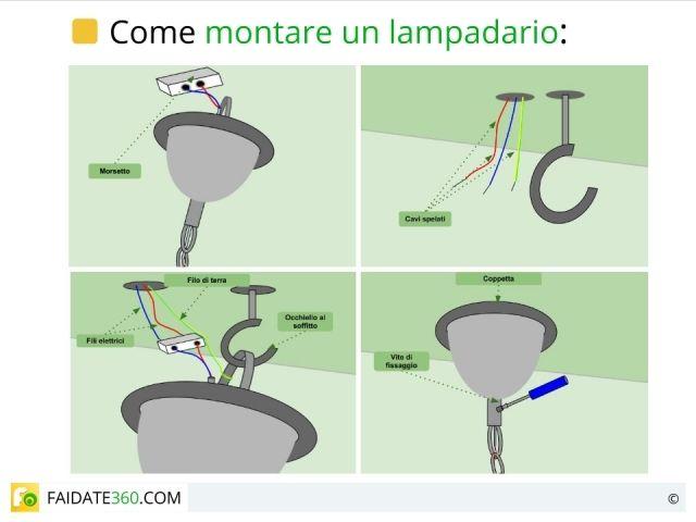 Come montare correttamente un lampadario   http://www.faidate360.com/Montare_un_lampadario.html