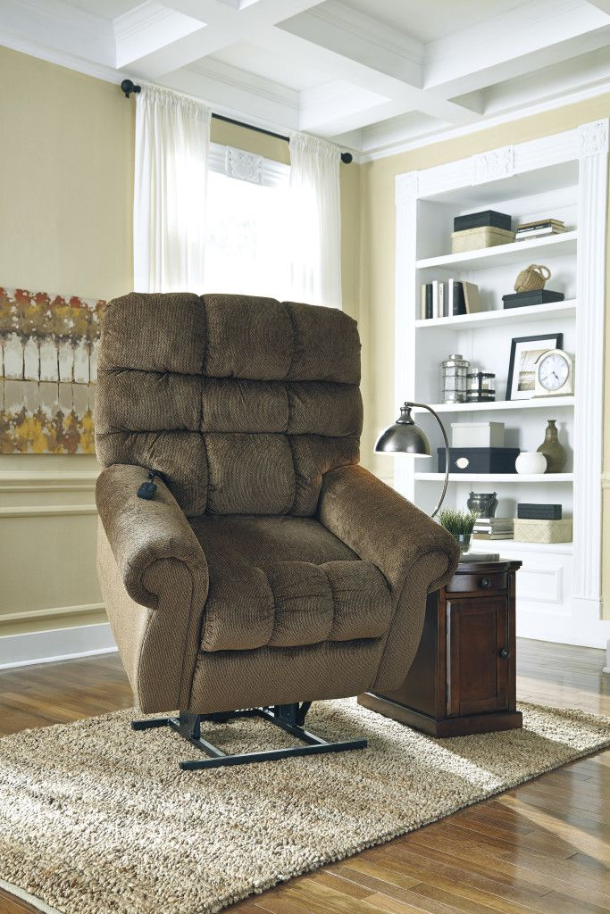 Get your Ernestine - Truffle - Power Lift Recliner at Furniture Country, Gainesville FL furniture store.