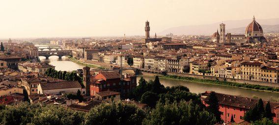 Nieuw in mijn Werk aan de Muur shop: Panorama Florence in Toscane
