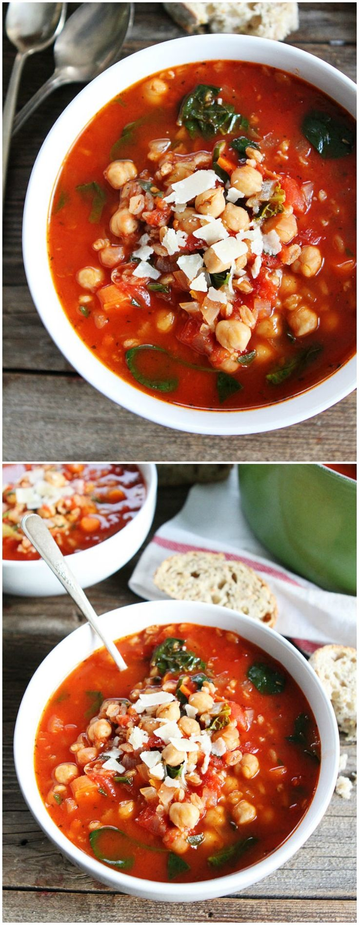 Chickpea Farro Soup on twopeasandtheirpod.com Love this easy and healthy soup! It is great for lunch or dinner!