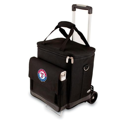 Texas Rangers Wine Cellar Portable Cooler with Trolley