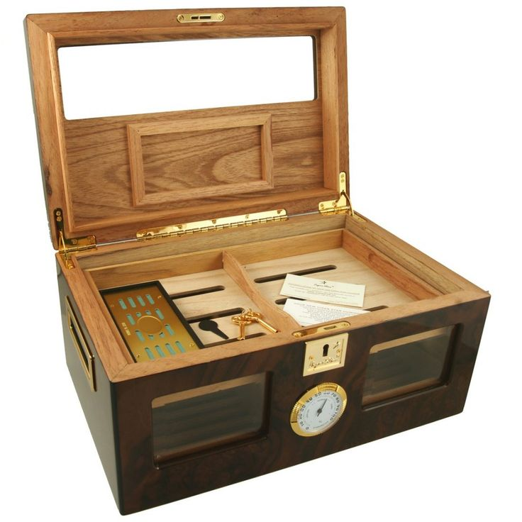Perfect Ager IV 150 Cigar Star Humidor Made from Walnut Burl - Cigar Star - Cigar Humidors and Cigar Accessories Shipped From Canada