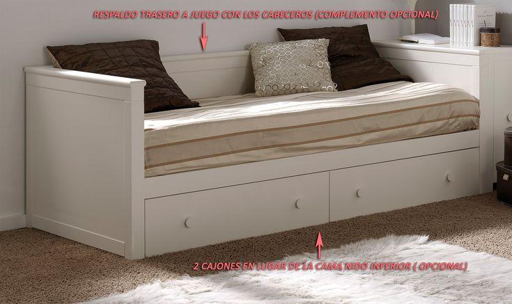 M s de 25 ideas incre bles sobre camas nido en pinterest for Cama divan con cajones