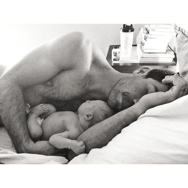 newborn + daddy