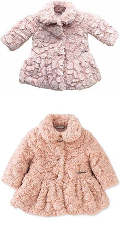 506bf7359 Calvin Klein Baby Girls  Faux Fur Peplum Coat 6-9 Months