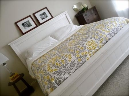 Ana white farmhouse bed.