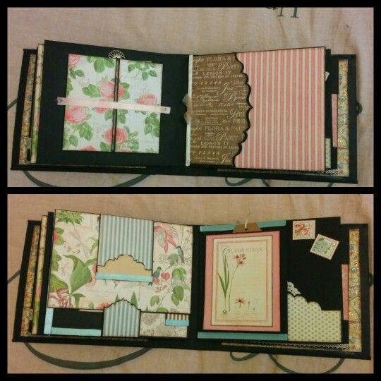 These are page 4 and 5 of my Botanical tea mini album by Graphic 45