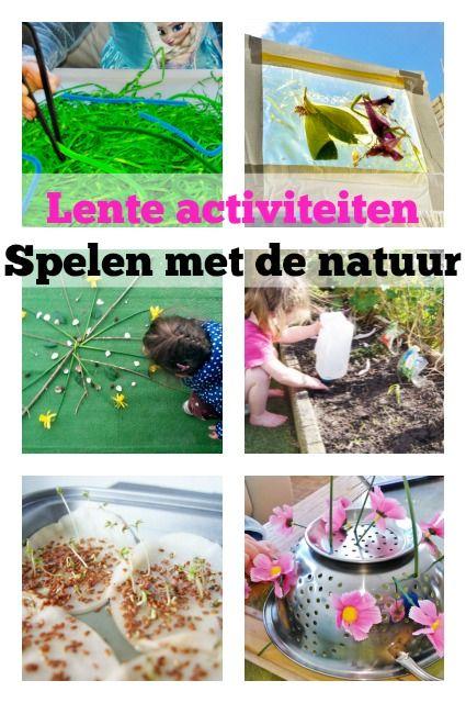 Lente activiteiten; spelen in de natuur binnen en buiten - Mamaliefde.nl