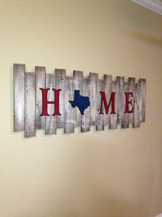 Rustic Home Sign Rustic Decor Texas Sign by CustomCreationsBF