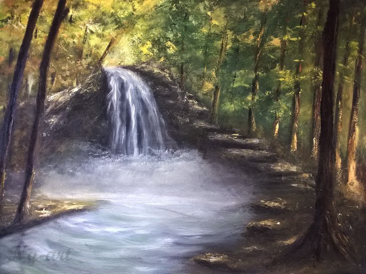 Waterfall by Angela Sütő