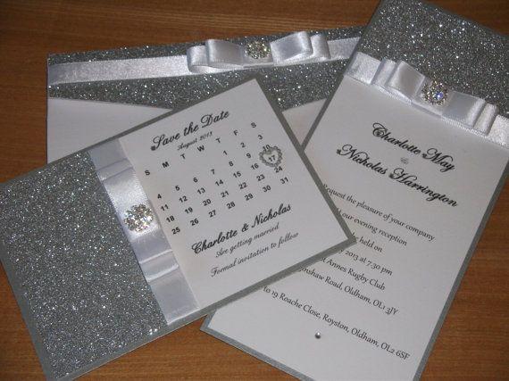 Handmade Wedding Invitation wallet The by CrystalCoutureinvite