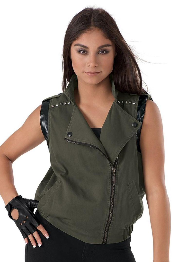 Athena massey red alert pictures to pin on pinterest -  Dancewear Solutions Dancewear Solutions Studded Army Vest Adorewe Com