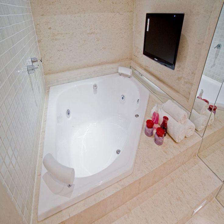 25+ melhores ideias de Banheira De Hidromassagem no Pinterest  Paredes em to -> Planta De Banheiro Com Banheira Dupla