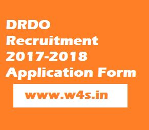 DRDO Recruitment 2017-2018 Application Form