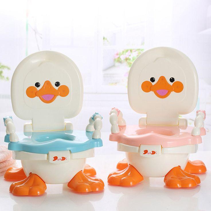 Chaise pot pour bébé 3en 1pour garçons, filles-Fun bébé de voyage de toilette pour se Convertit en bol, Formation du siège, à l'étape Tabouret-PARTIES amovibles et portable-Facile à Nettoyer-Best pour les parents, enfants, (Canard)