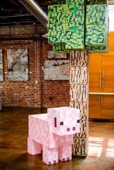 A Minecraft WEDDING! Cool ideas for a kids room here.   Check out http://minecraftfamily.com/ for cool new Minecraft stuff!