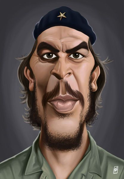 'Celebrity Sunday - Che Guevara' by rob-art on artflakes.com as poster or art print $14.38 art   decor   wall art   inspiration   caricatures   home decor   idea   humor   gifts