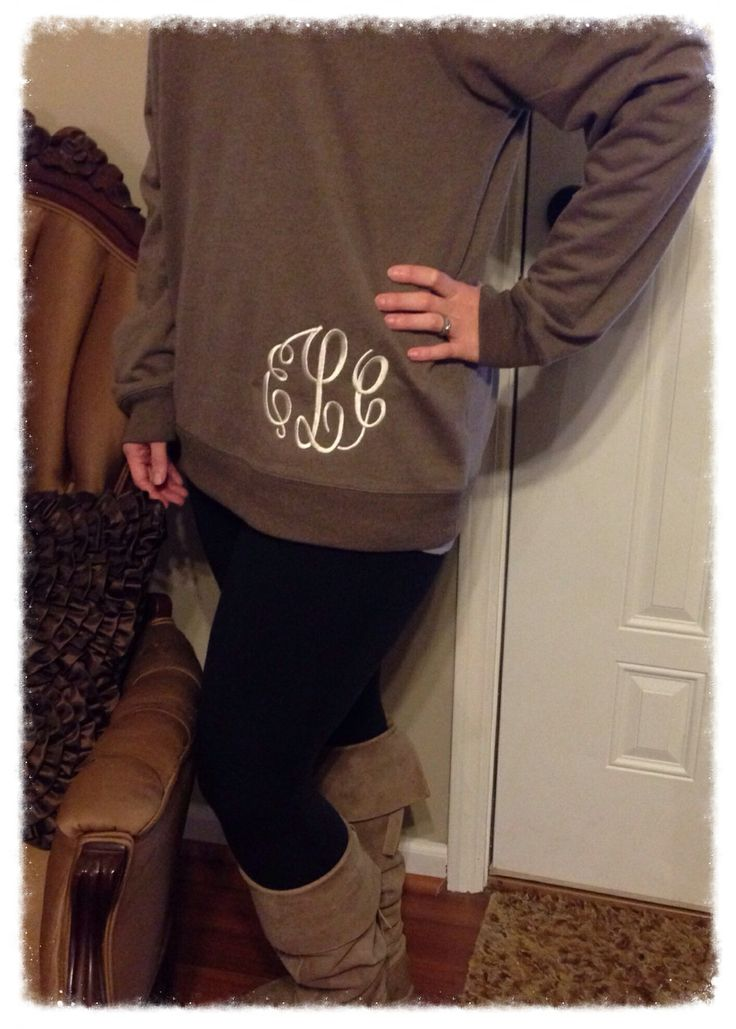 Monogrammed Sweatshirt | Southern Traditions | Clanton, Alabama https://www.facebook.com/pages/Southern-Traditions/147422801954739?ref=hl