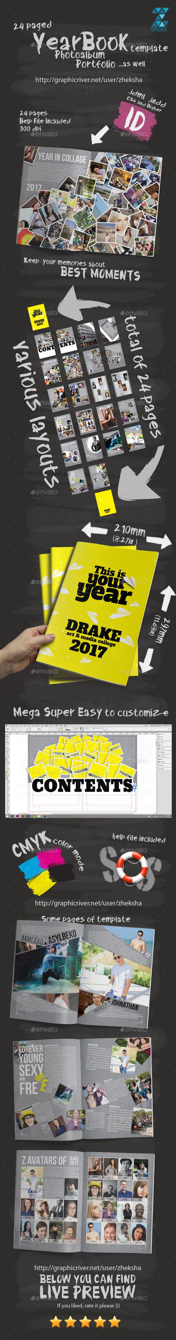 Yearbook Template - Print Templates