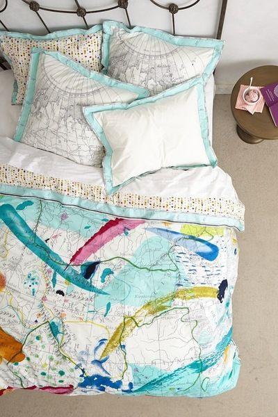 World Map Bedding Great colors Bedroom Inspiration Pinterest World Ma
