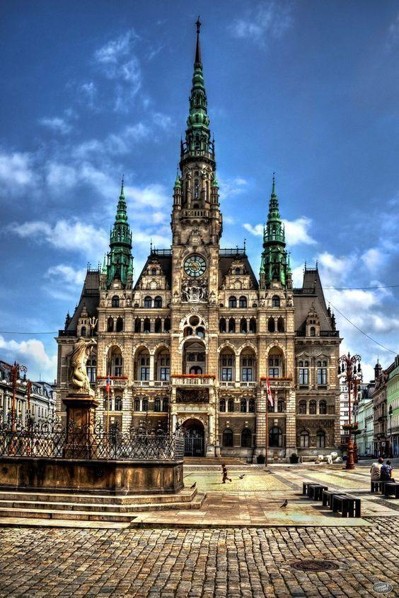 The gorgeous City Hall in Liberec, Czech Republic.