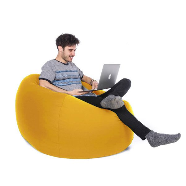 Retro Classic Bean Bag – Yellow