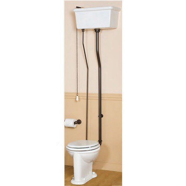 Sunrise Specialty Victorian Pull Chain Toilet with Porcelain Tank and Bowl - Toilets & Bidets - Bathroom