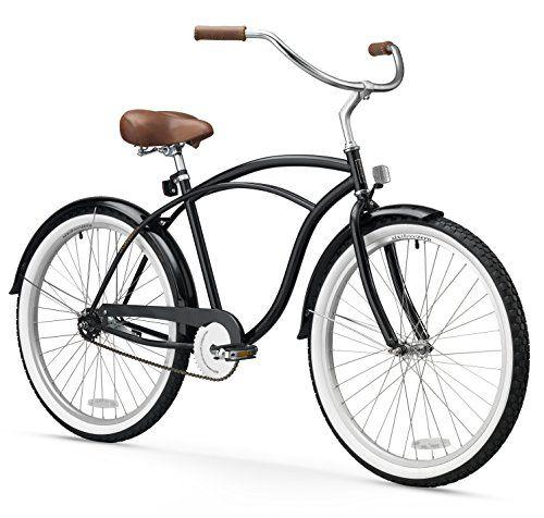 Vintage Fashion and Lifestyle sixthreezero Men's BE 1-Speed 26-Inch Beach Cruiser Bicycle, Black