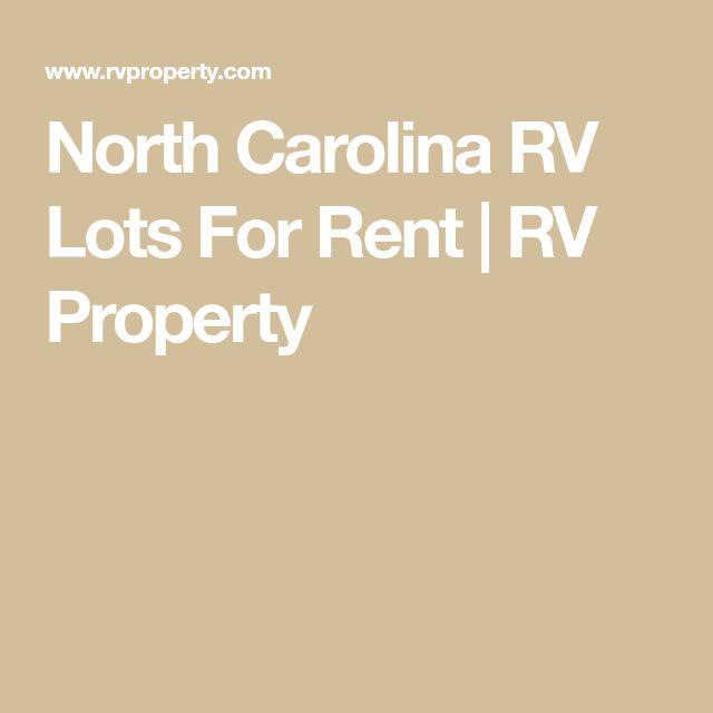 North Carolina RV Lots For Rent | RV Property