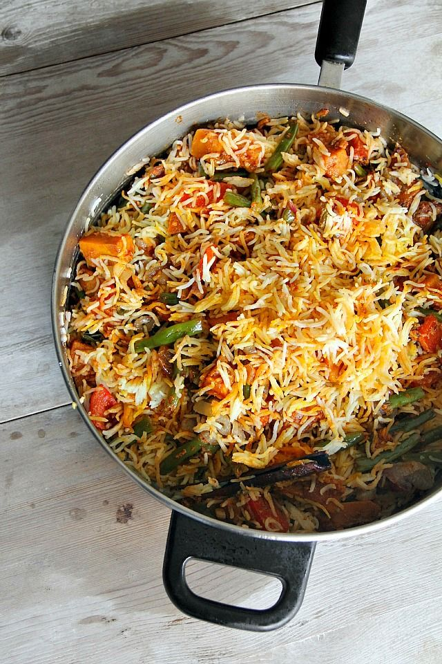 vegan vegetable biryani - this has a few ingredients that would be hard to find in my area. But I would like to try this method of cooking rice for a stir-fry of sorts.