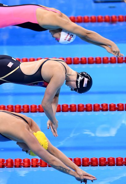 #RIO2016 Katie Ledecky of the United States competes in the Women's 200m Freestyle Final on Day 4 of the Rio 2016 Olympic Games at the Olympic Aquatics...