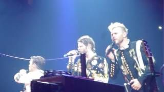 Take That Never Forget Live Manchester Arena 19 May  Gary Howard and Mark up close