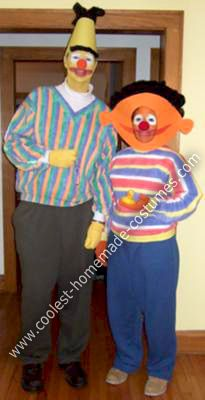 Coolest Homemade Bert and Ernie Costumes & 10 best Costumes images by Debbie Edwards on Pinterest | Bert and ...