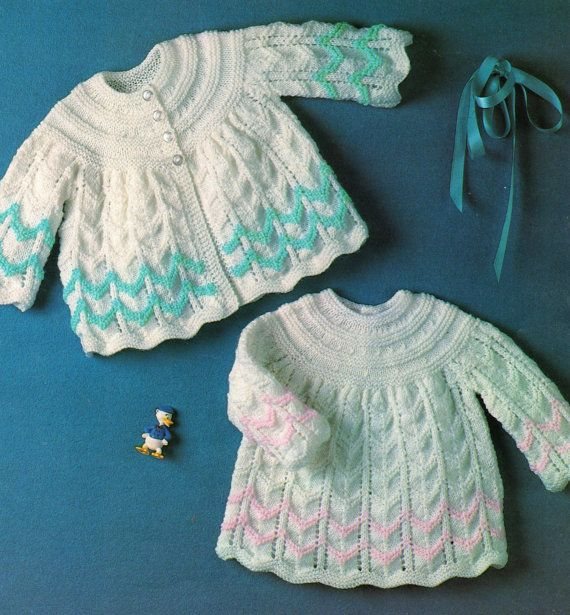 Knitting Pattern Baby Matinee Jacket And Angel Top 18
