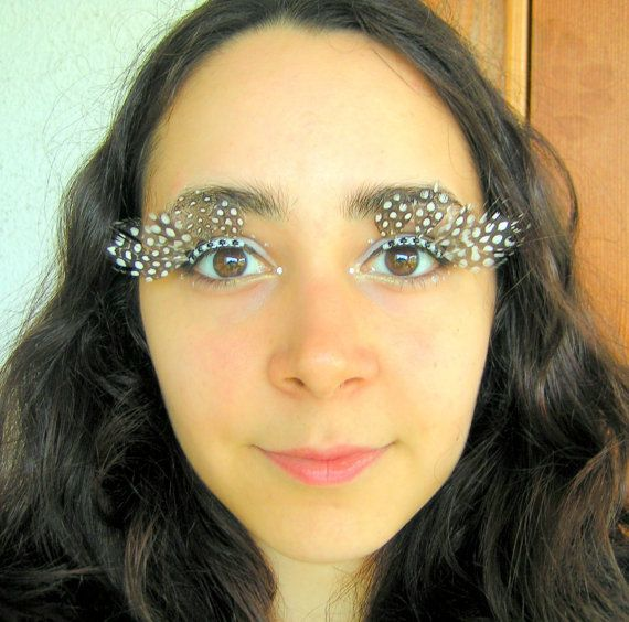 Spotted Feather Eyelash Jewelry