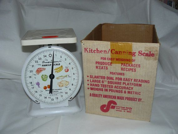 Midcentury KITCHEN SCALE Vintage Mint in by VINTAGE5AN10CENTSHOP