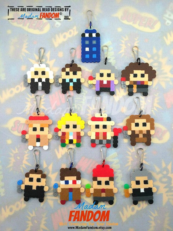 DOCTOR WHO Party Favors Set of 13 Doctor Who by MadamFANDOM