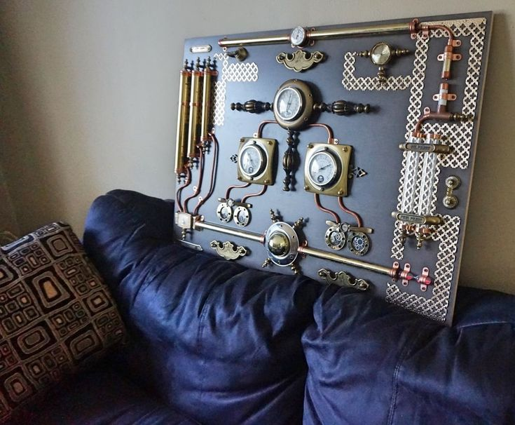 Modern Abstract Industrial Art Control Panel Steampunk