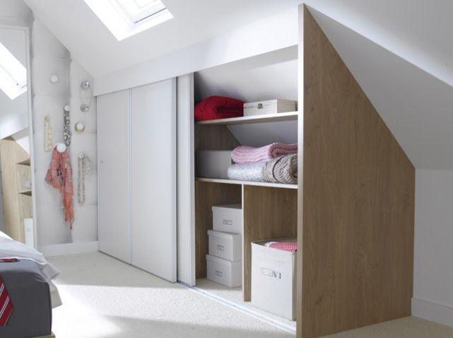 1000 id es propos de placard sous pente sur pinterest meilleure centrale vapeur armoires. Black Bedroom Furniture Sets. Home Design Ideas