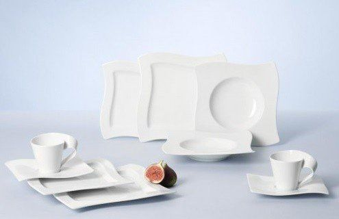 Villeroy Boch New Wave 30 Piece Basic Dinnerware Set White